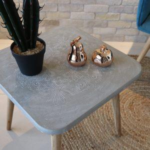 שולחן צד דמוי בטון ALIMOS