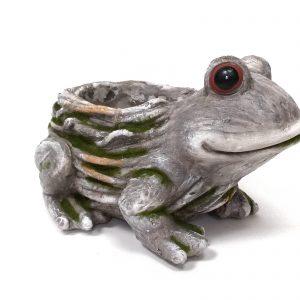 בובת צפרדע לגינה מעוצבת