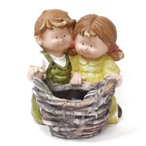 בובת זוג ילדים לגינה