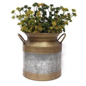 כלי מתכת לפרחים