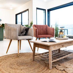 שולחן לסלון מעץ מלא DRAMA