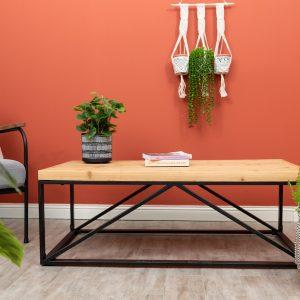 שולחן סלון מלבני מעץ NAFILO