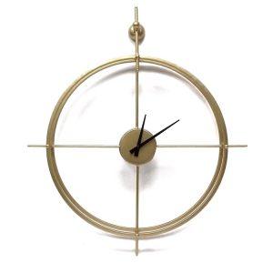 שעון מתכת דקורטיבי זהב