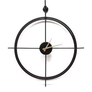שעון מתכת דקורטיבי שחור