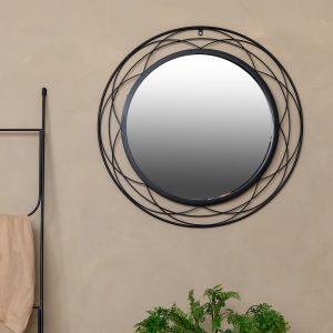 מראה ״טבעות״ מעוצבת צבע שחור | FIORE