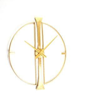שעון מתכת מעוצב בצבע זהב 504