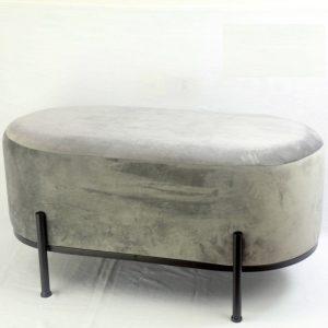 ספסל קטיפה מעוצב גוון אפור