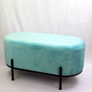 ספסל קטיפה מעוצב גוון תכלת
