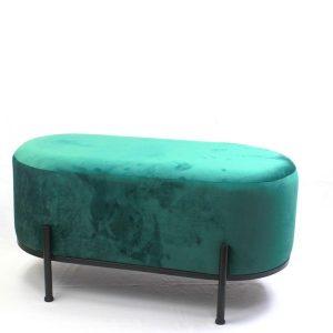 ספסל קטיפה מעוצב גוון טורקיז