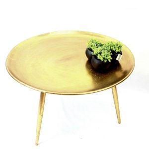 שולחן מתכת מעוצב צבע זהב 004