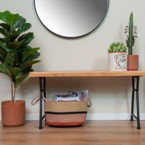 ספסל מעץ מלא | JONA