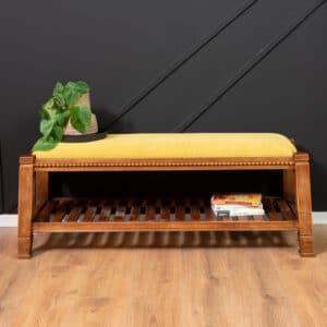 ספסל עץ מעוצב דגם ALFRED B