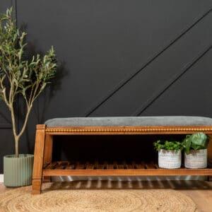 ספסל עץ מעוצב דגם ALFREDD