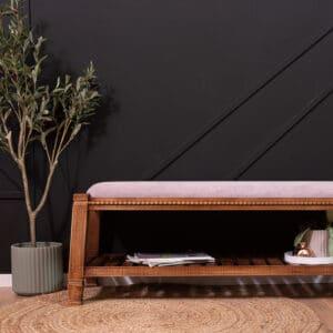 ספסל עץ מעוצב דגם ALFRED A