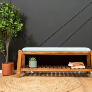 ספסל עץ מעוצב דגם ALFRED C