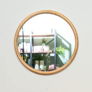 מראת עץ מלא עגולה