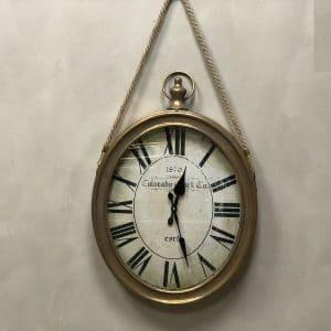 שעון אליפסה מעוצב לתלייה על הקיר
