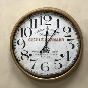 שעון קיר מסגרת זהב עתיק