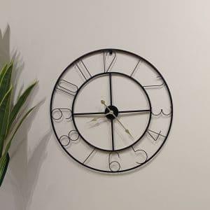שעון קיר שחור אלגנטי 80