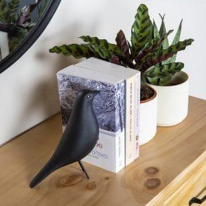 ציפור דקורטיבית שחור מט | NERA