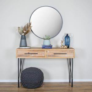 קונסולה מעץ וברזל | BROK VINTAGE