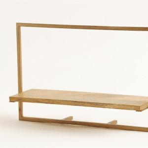 מדף מתכת ועץ | WIDE 50
