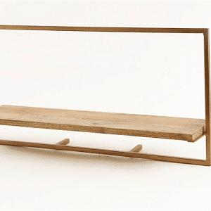 מדף מתכת ועץ | WIDE 65