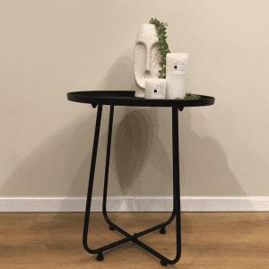שולחן צד ממתכת   TONDO NERO