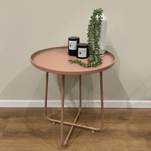 שולחן צד ממתכת   TONDO ROSA