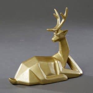 אייל קרמיקה זהב שוכב | GEOMETRICO