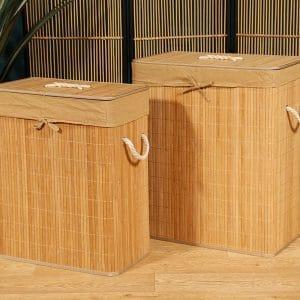 זוג סלי כביסה מלבניים | NATURALE