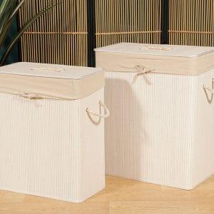 זוג סלי כביסה מלבניים | WHITE